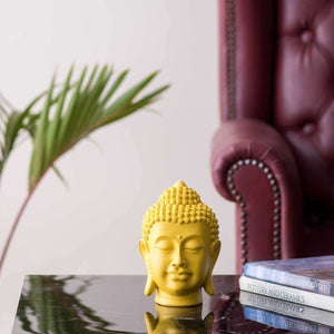 Serene Buddha Figurine (Small) - Yellow