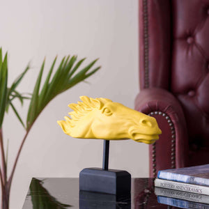 'Godspeed' Tabletop Horse Sculpture - Yellow