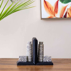 'The Leaning Tower' Bookend Set