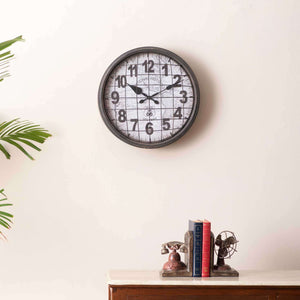 'National' Caged Wall Clock