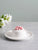 Floral Trinket Dish with Storage - White