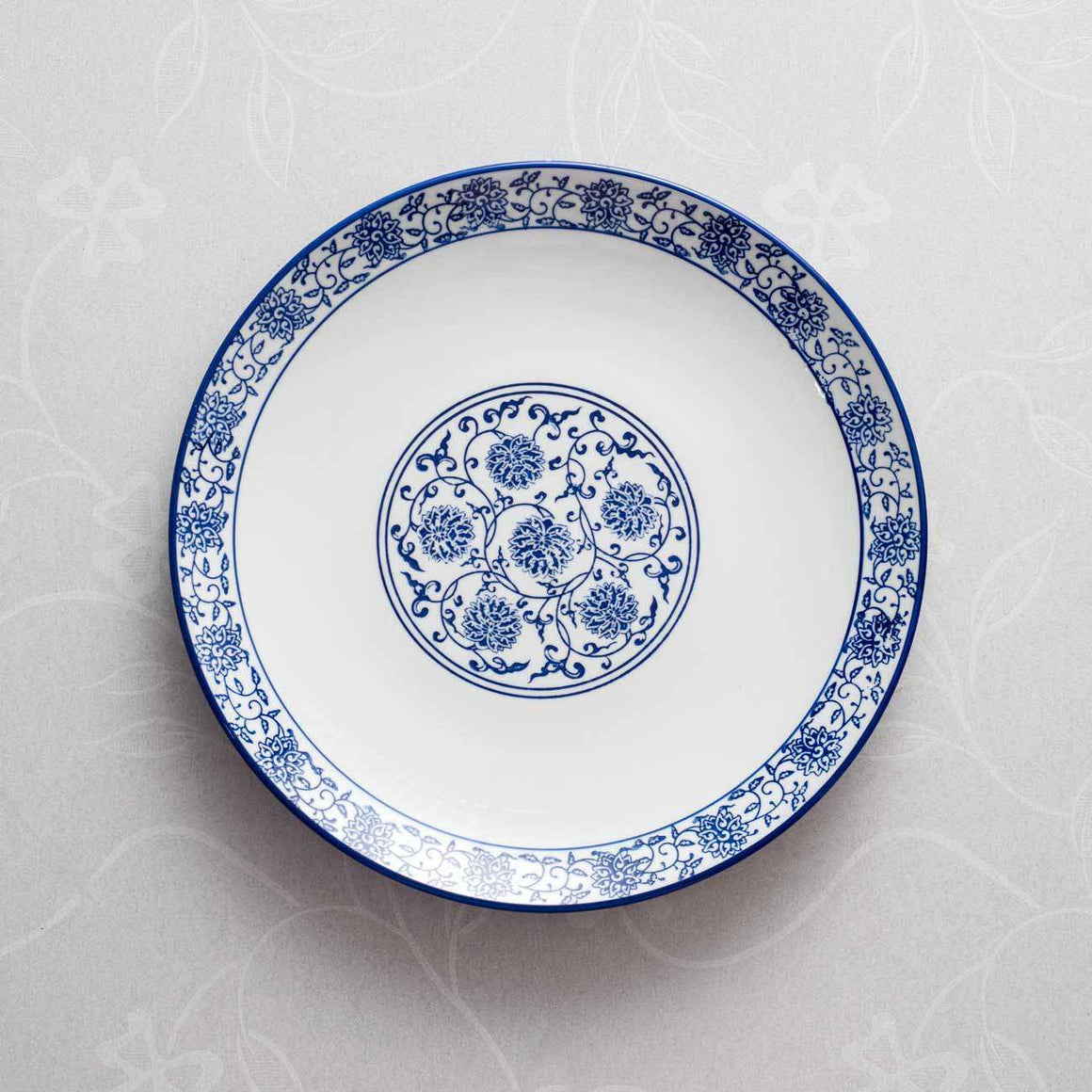 Vintage Blue and White Dinner Plate - 12""