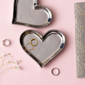 Silver Heart Ring Dish
