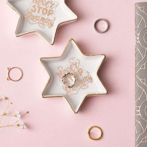 Never Stop Dreaming - Star Shaped Ring Dish