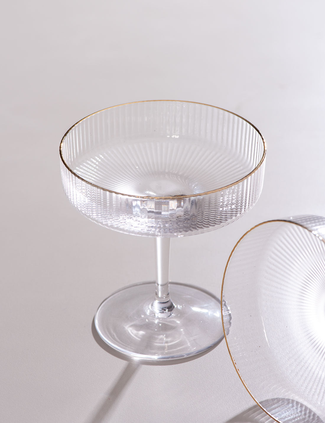 Clear Caprice Cocktail Glasses Set Of 6 Thedecorkart