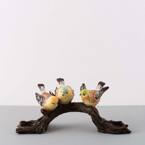 Cardinal Birds on a Branch Tea-Light Holder