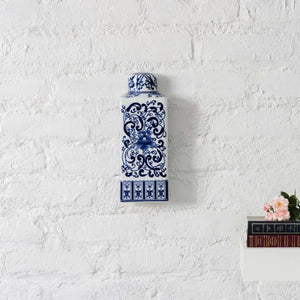 Rendezvous with Blue - Wall Mounted Vase