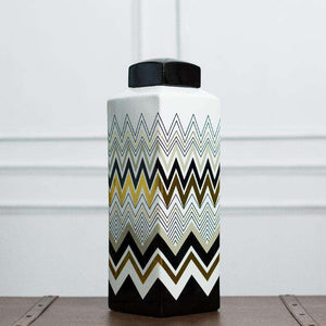 Chevron - Decorative Lidded Jar - Large