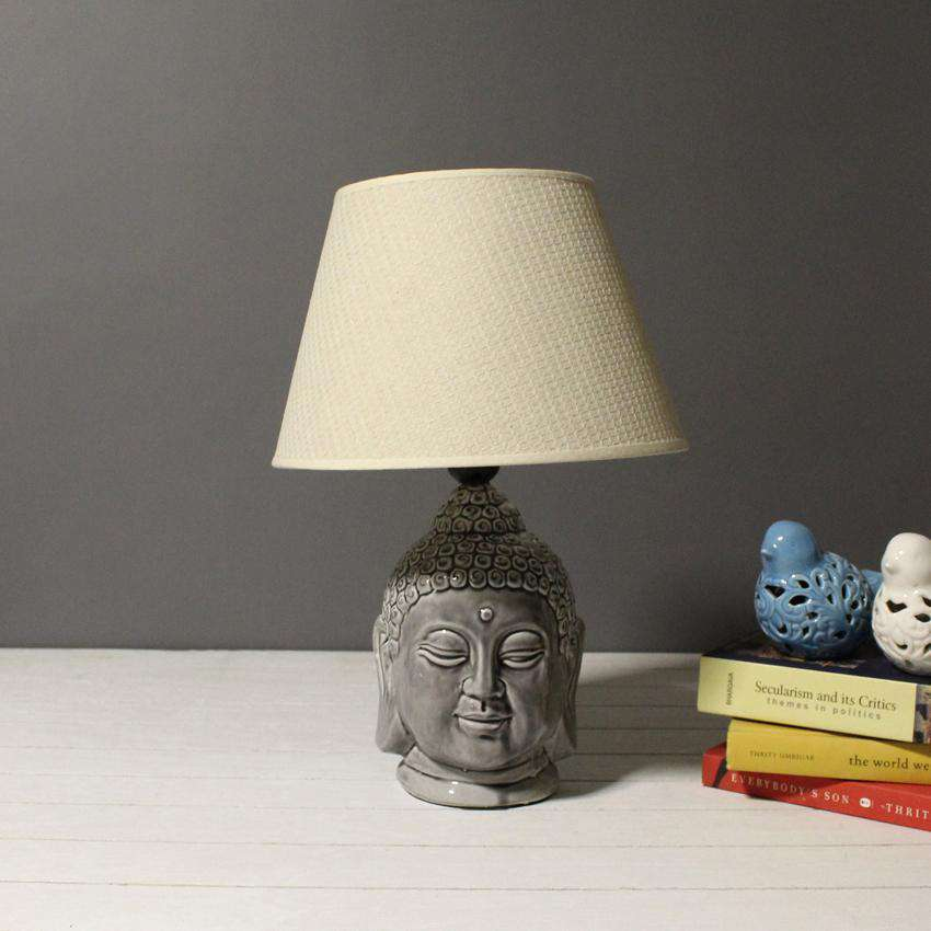 Serene buddha table lamp grey thedecorkart serene buddha table lamp grey aloadofball Images