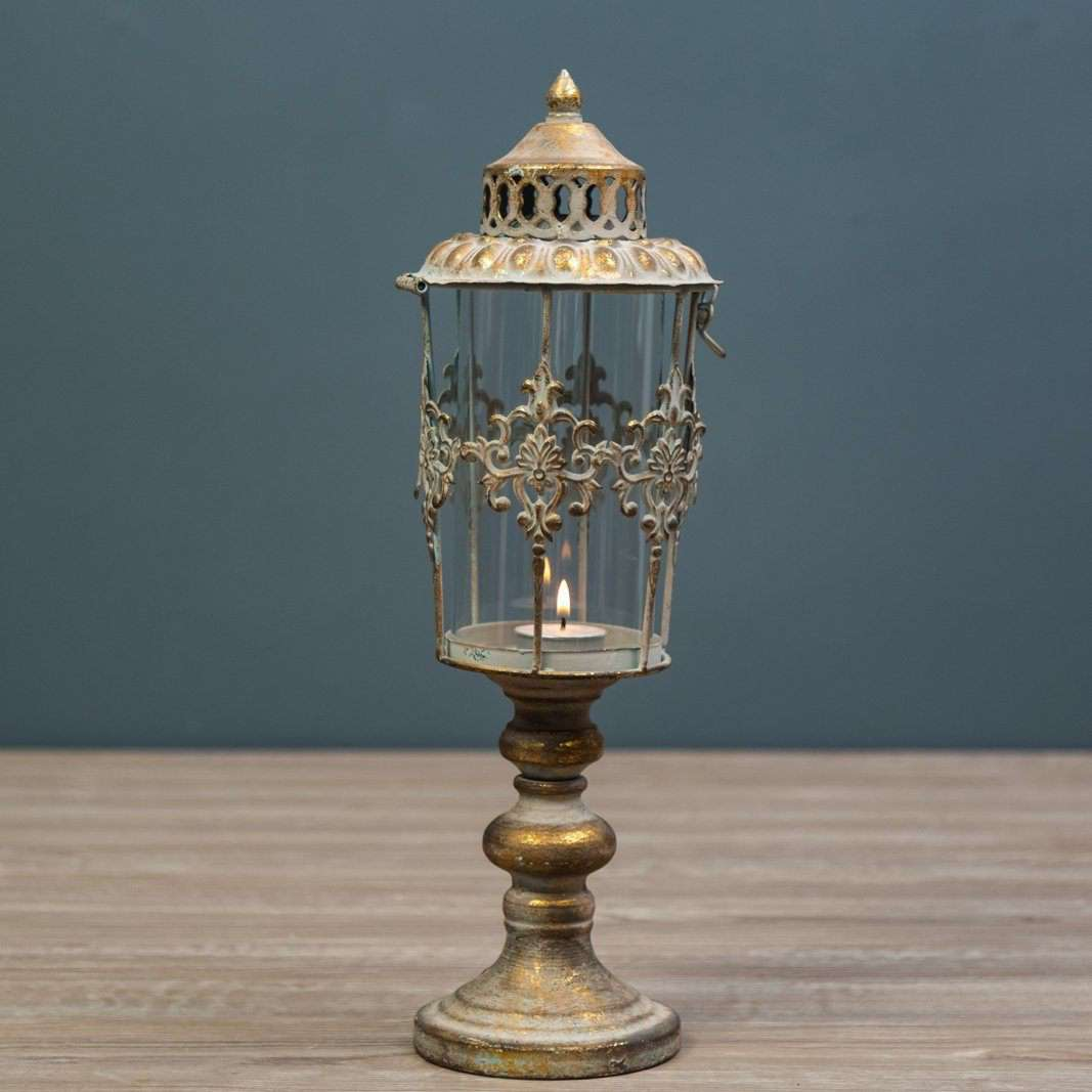 Napoli Collection - Antiqued Gold Candle Holder