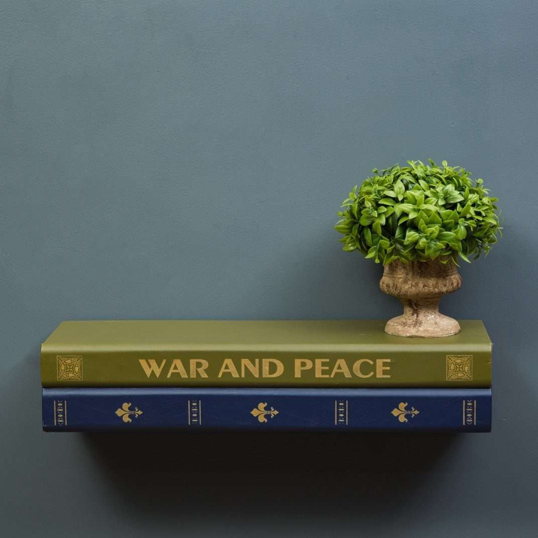'War & Peace' Book Shaped Shelf w/ Drawer