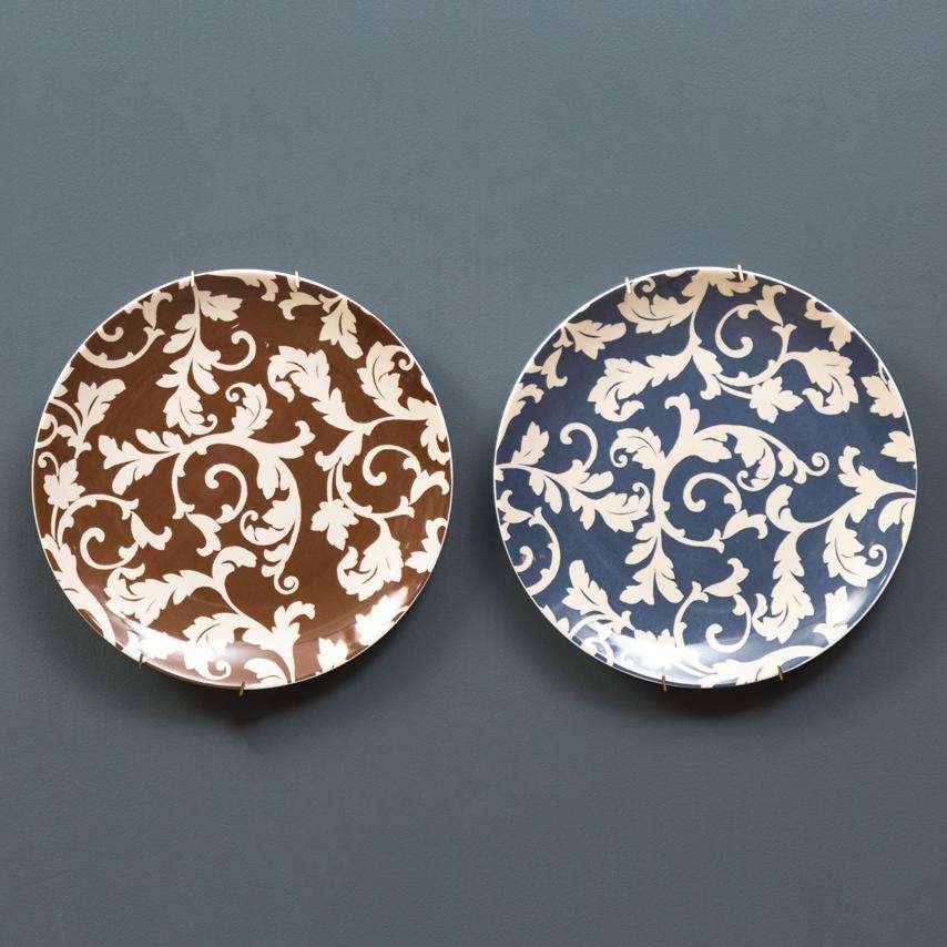 Wall Mounted Accent Plates - Set of 2