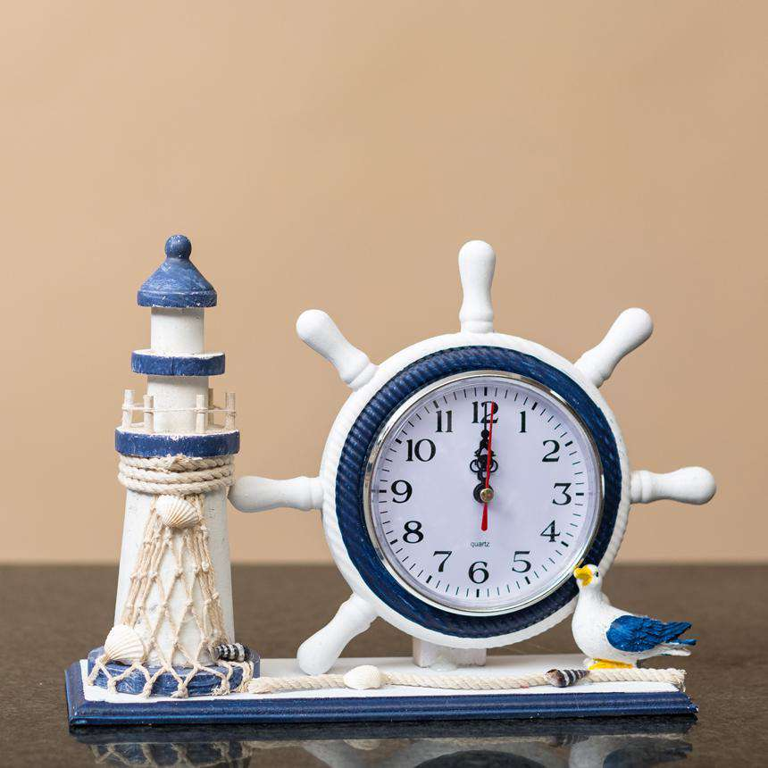 The Lighthouse -  Nautical Mantel Clock