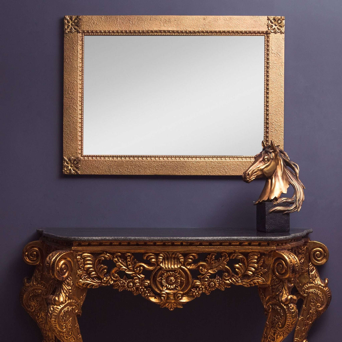 Victorian Ornate Hand Carved Gold Mirror