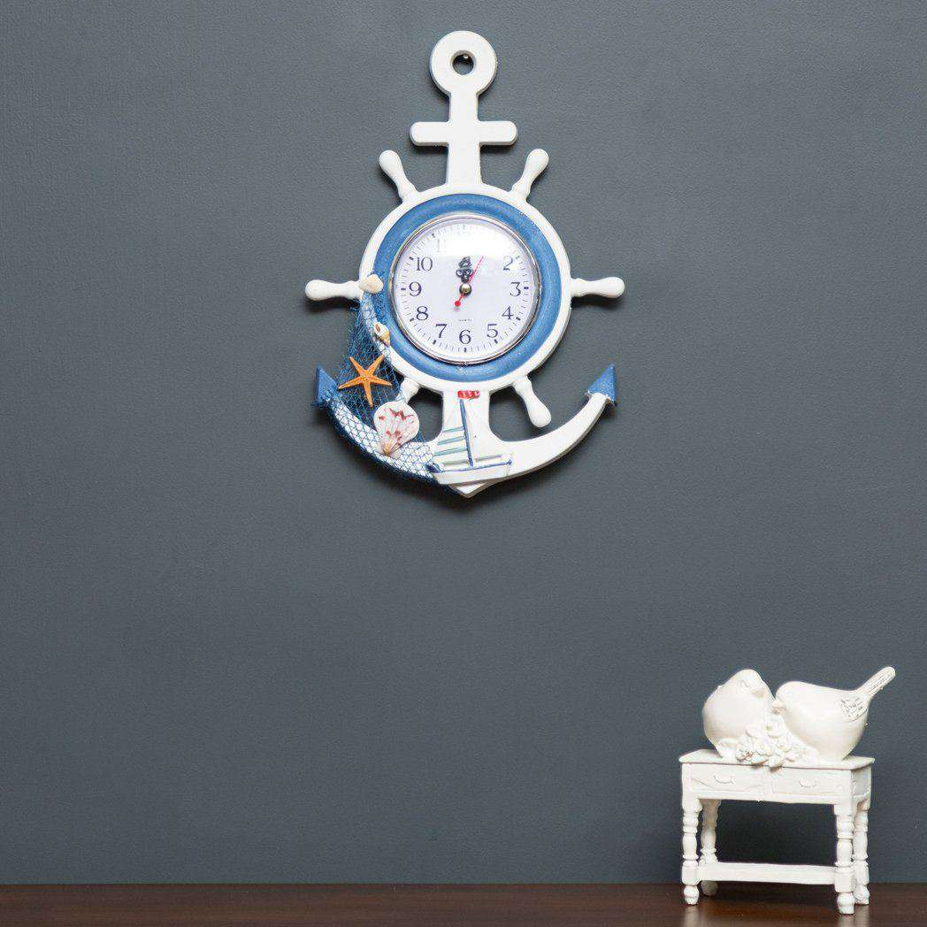 The anchor wall mounted clock thedecorkart the anchor wall mounted clock amipublicfo Images