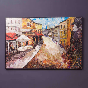 Street Scene - A new way of making Wall Art