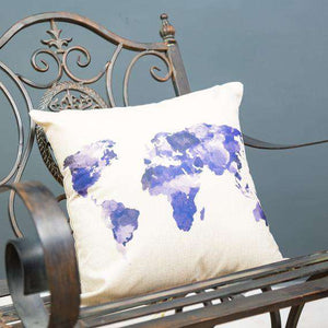 "World Map Cushion Cover 17"" - Set of 2"