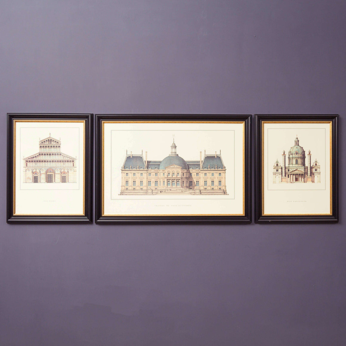 The Château de Vaux-le-Vicomte - Set of 3