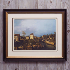 Life in a small town - Framed Art from Italy