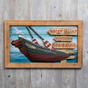 Water Sport - Print on Wood