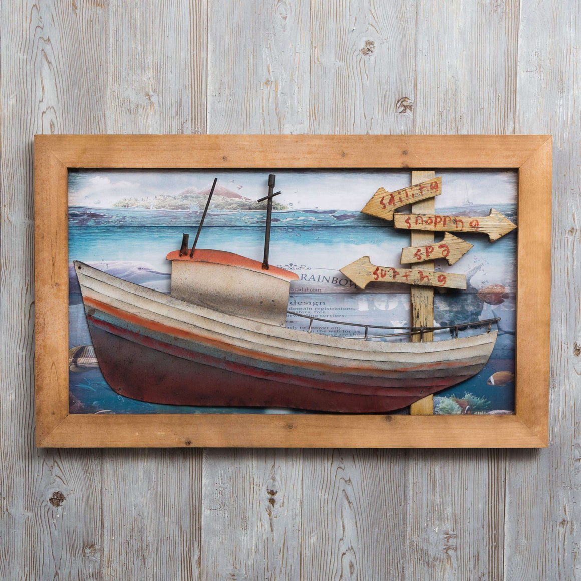 Boat Life - Print on Wood
