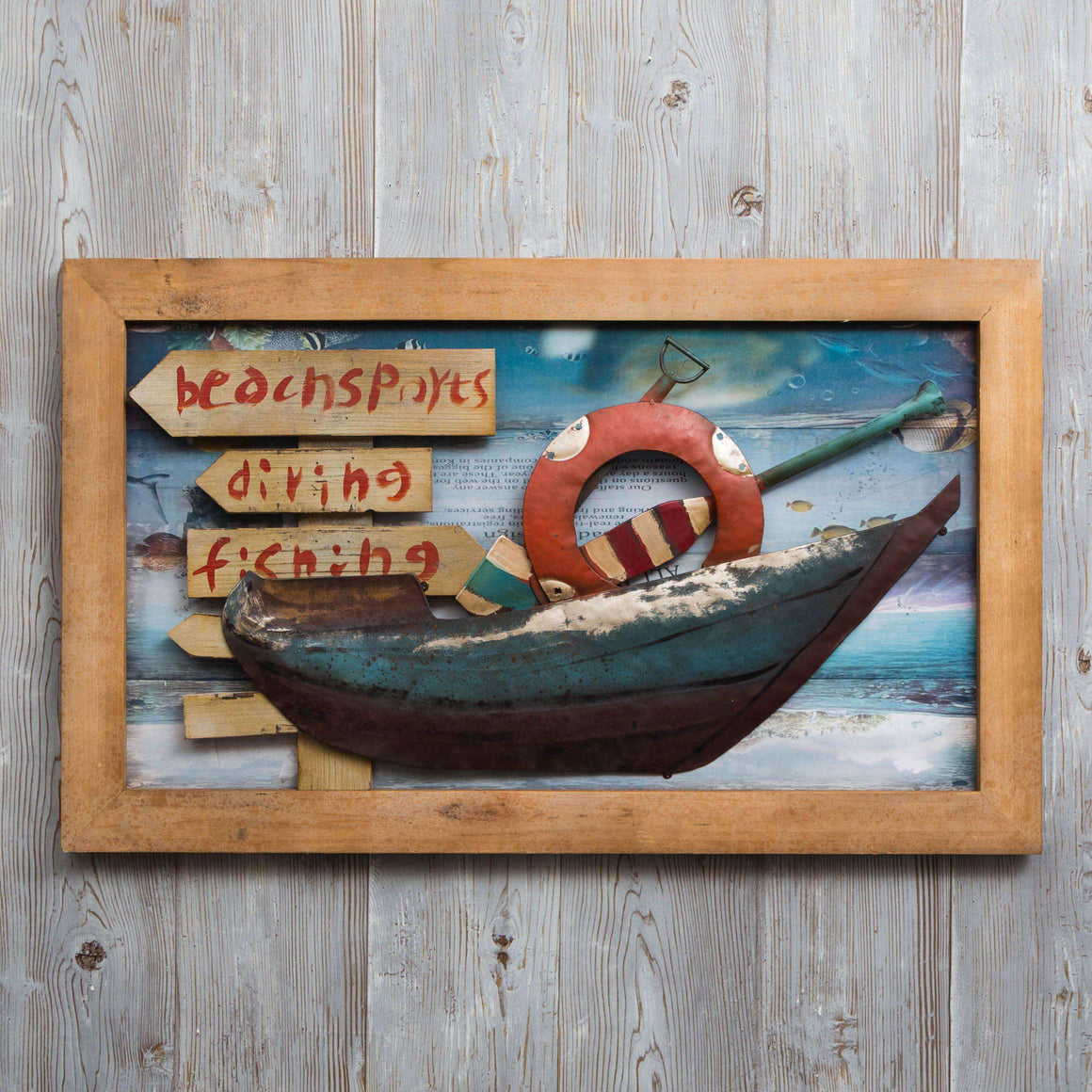 Beach Life - Print on Wood