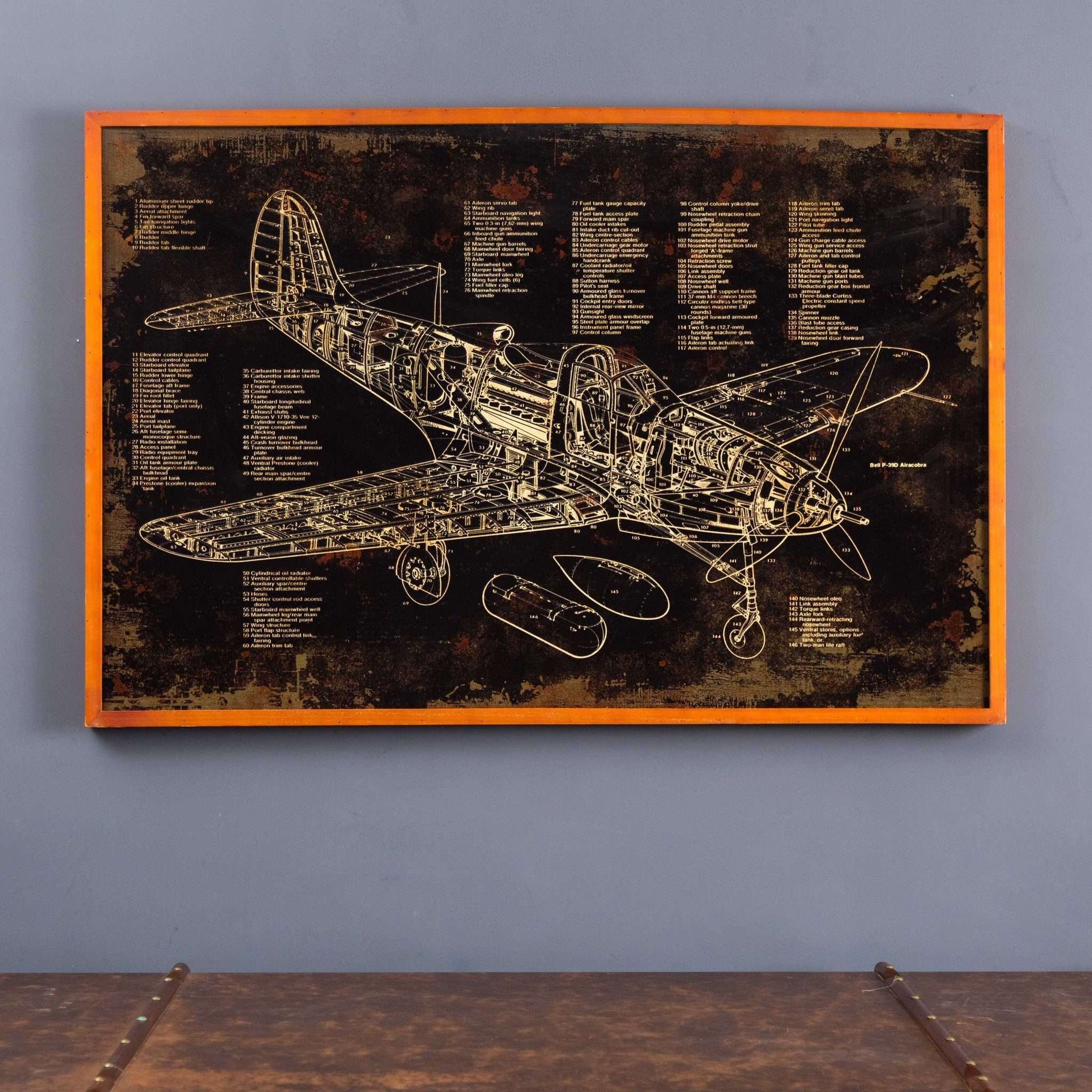 Vintage plane blueprint wall art thedecorkart vintage plane blueprint wall art malvernweather Gallery