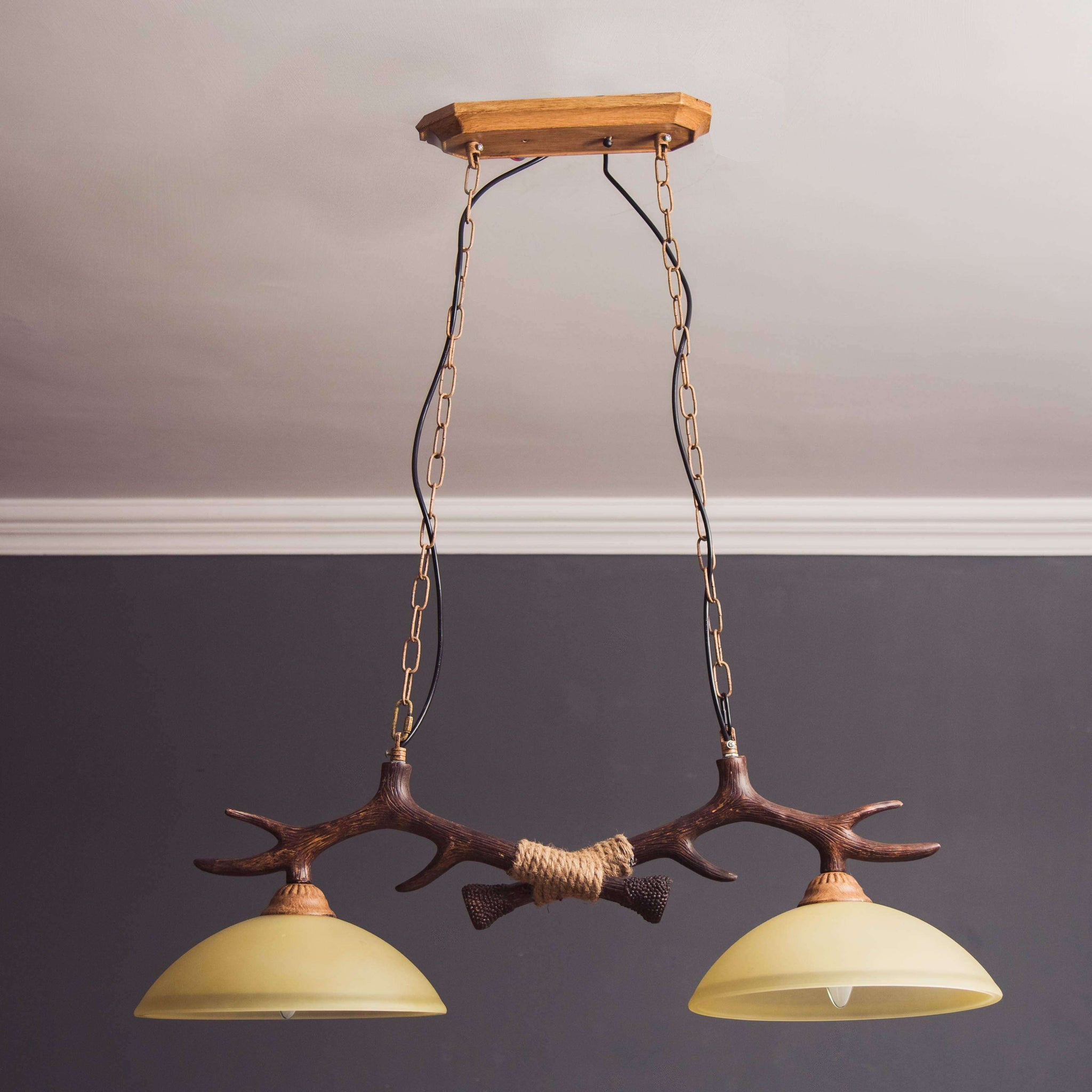 The antler ceiling light thedecorkart the antler ceiling light mozeypictures Choice Image