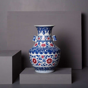 Forbidden City Decorative Blue and White Vase
