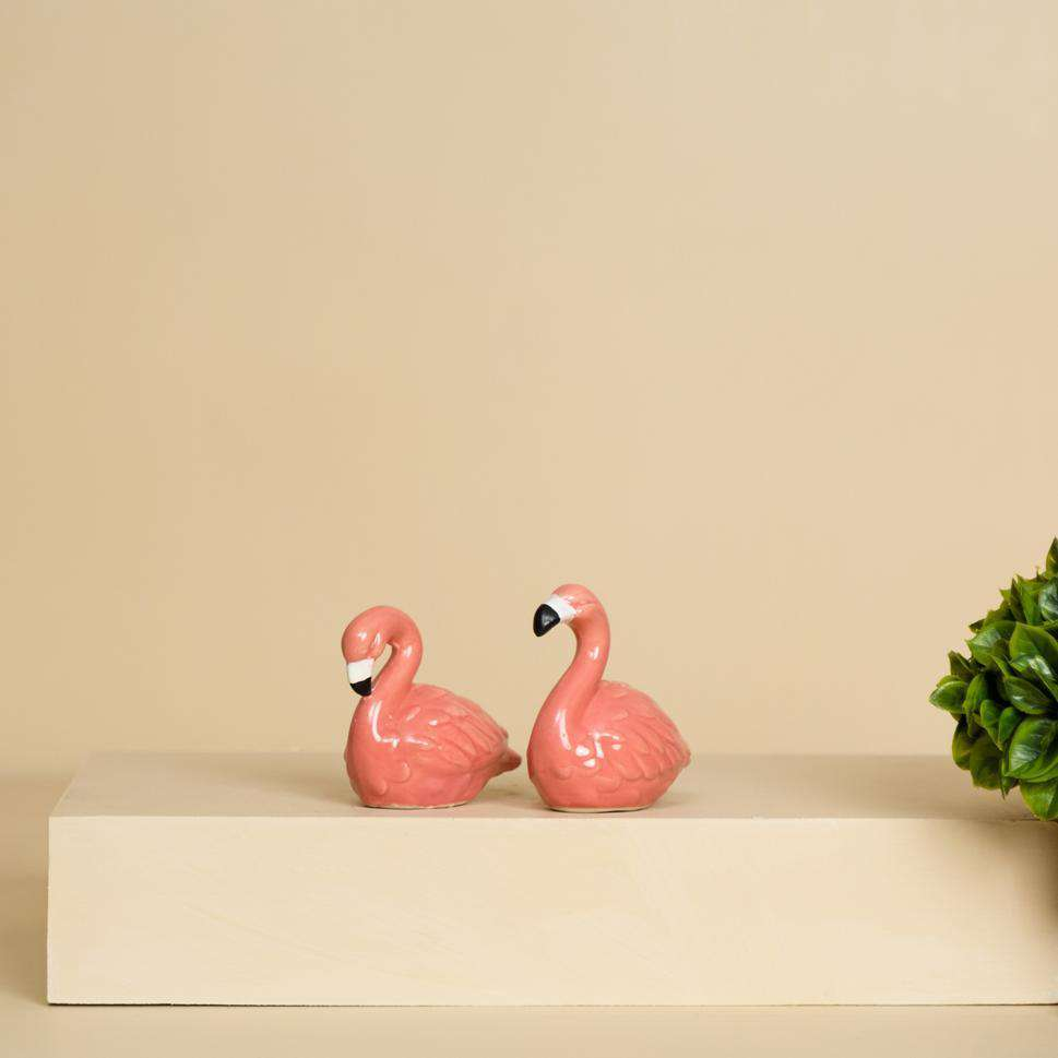 Tropical Flamingo Salt and Pepper Shaker Set