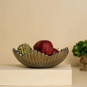 Grey Glassware - Fruit Bowl
