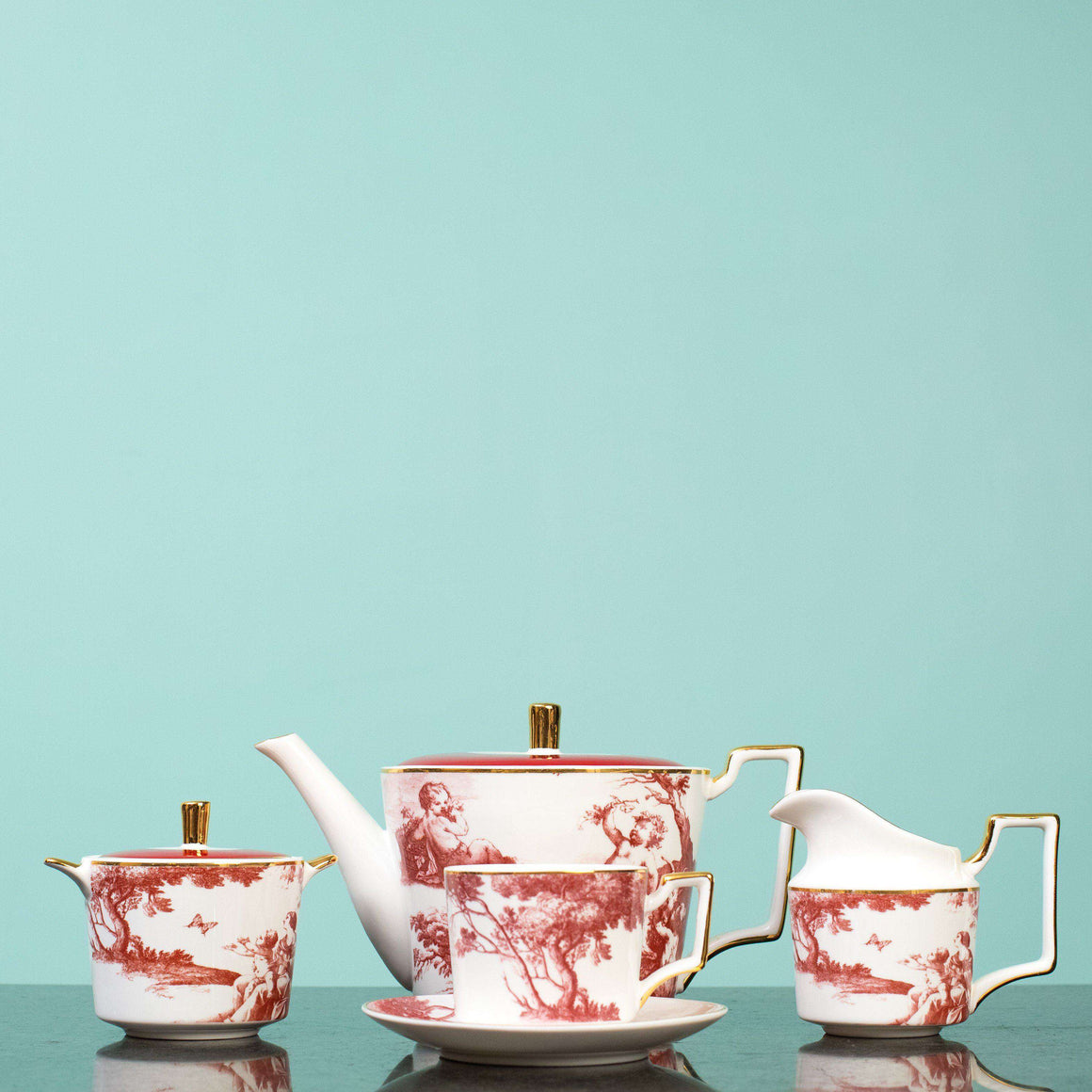 Chinoiserie - 11 Piece Tea Set