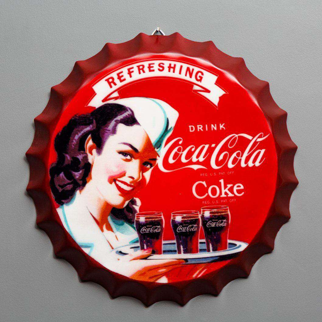 Coca Cola - Oversized Wall Mounted Bottle Cap
