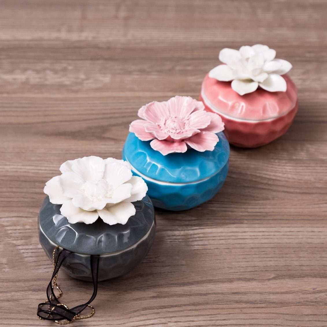 Magnolia - Duo Coloured Trinket Keepers - Set of 3