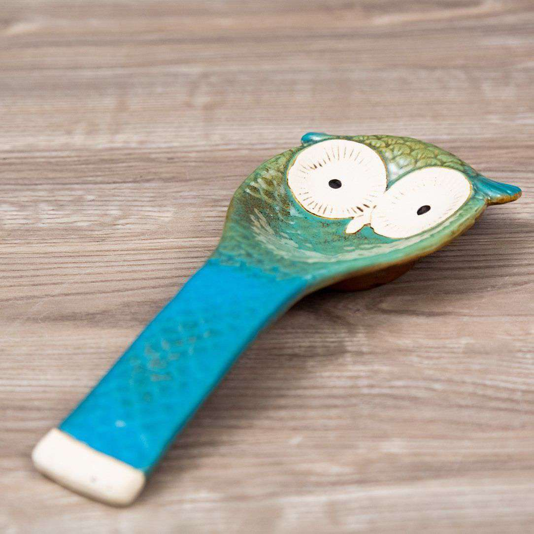 'The Owl' Serving Spoon Rest - Blue