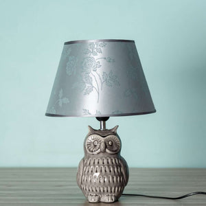 Adorable Owl Table Lamp - Grey