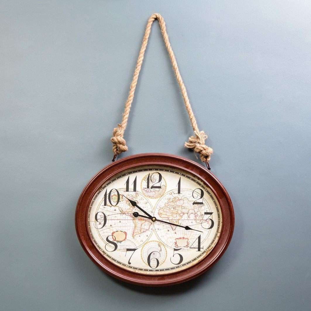 The World - Rope Hanging Wall Clock