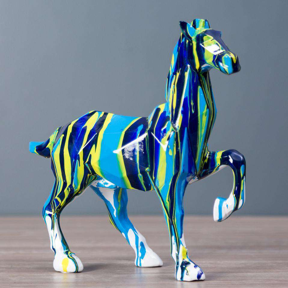 Poured Paint Collection - Handsome Horse Figurine