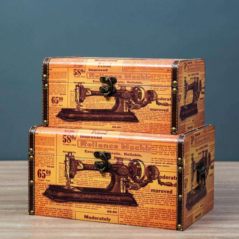 Sewn - Set of 2 Trunk Boxes