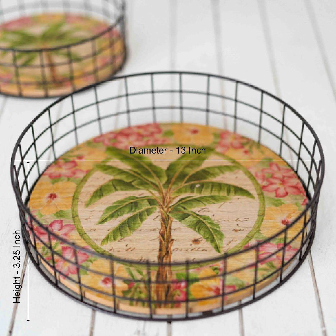 The Palm - Round Serving Tray - Large