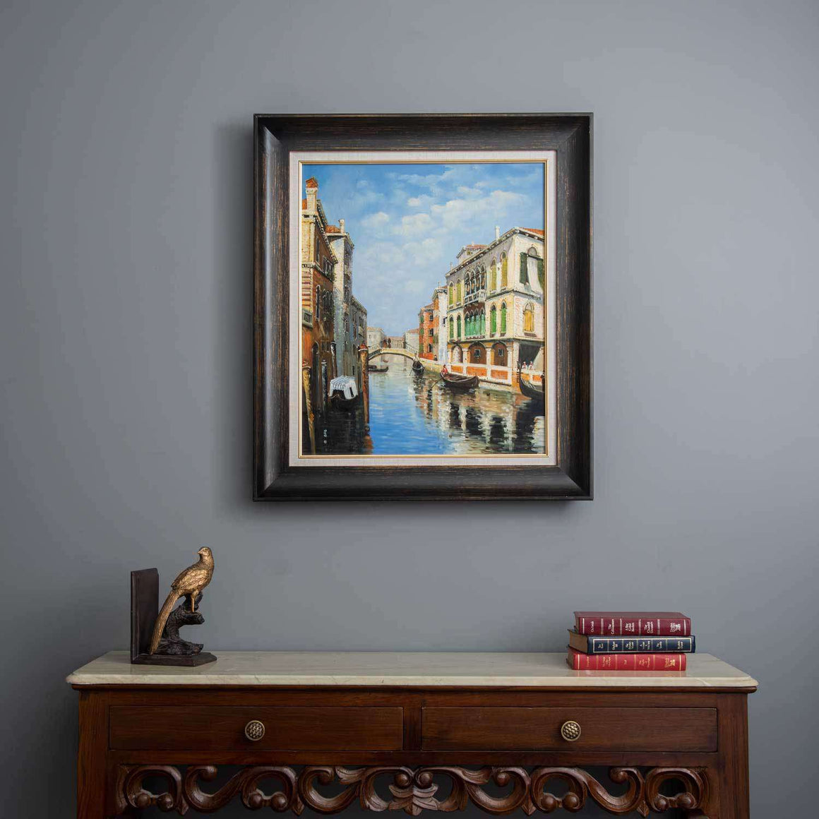 "'The Gondola Ride - Venice-II' Handmade Oil Painting 26"" * 30"""