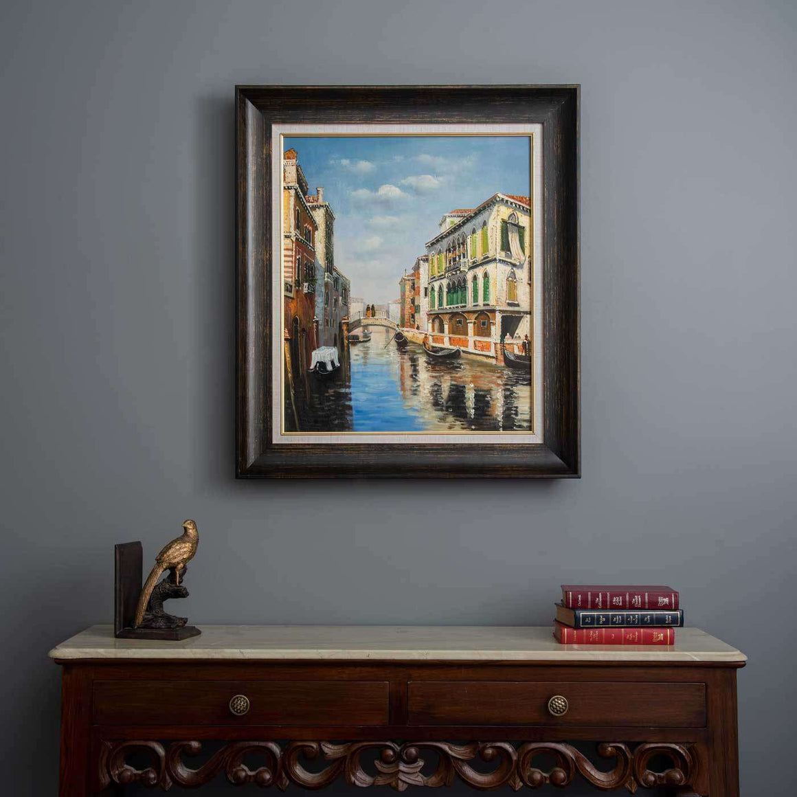 "'The Canal ....Venice' Handmade Oil Painting 26"" * 30"""