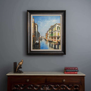 "'The Gondola Ride - Venice-I' Handmade Oil Painting 26"" * 30"""