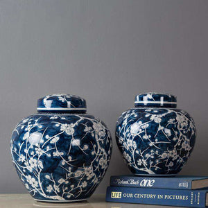 'Cherry Blossom' Round Ginger Jar - Small