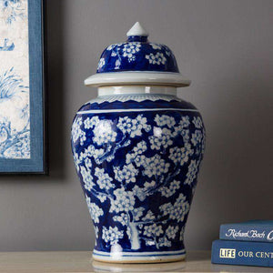 'Tree of Life' Blue and White Temple Jar - Large