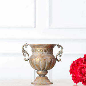 Napoli Collection - Antiqued Gold Trophy Style Urn