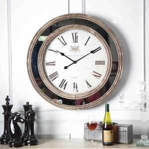 Oversized Mirror Border Clock