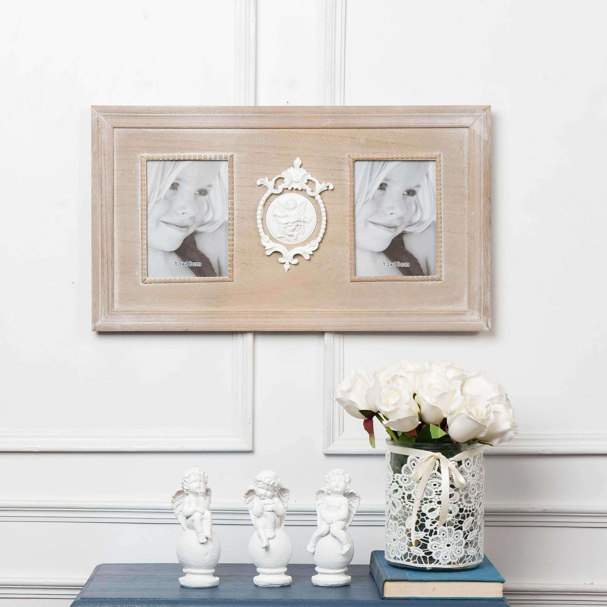 Shabby Chic Double Photo Frame - TheDecorKart