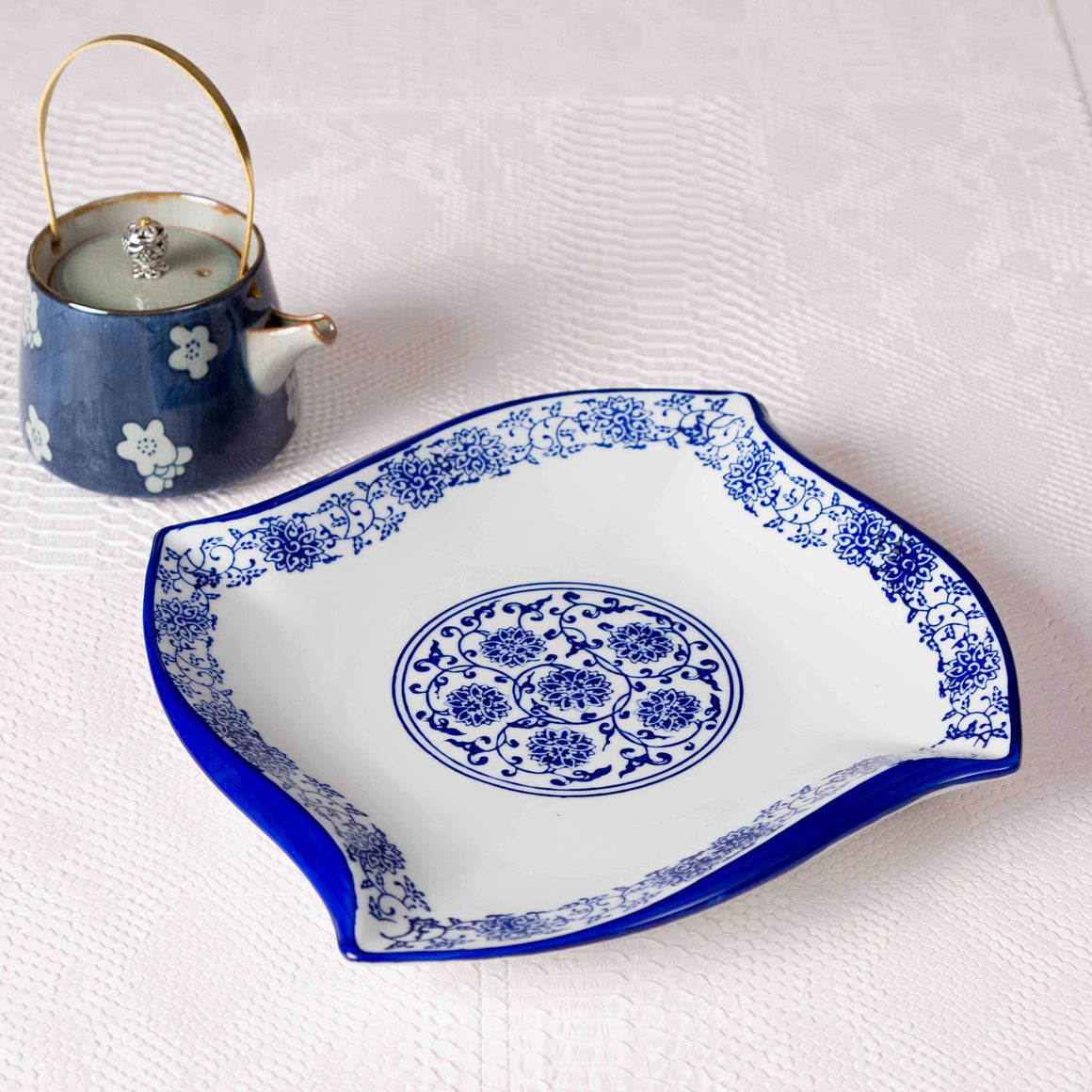 Vintage Blue & White Swirl Dinner Plate