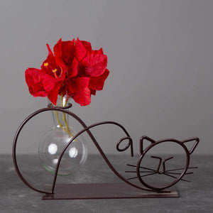 Kitty - Metal Vial Planter